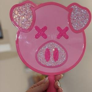 Custom JSC/ SW bling Pink pig mirror
